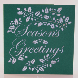 Season's Greetings Holly Christmas Card