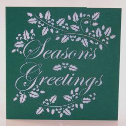 Season's Greetings Holly Christmas Card