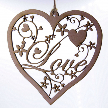 Fancy Love Heart Hanging Decoration