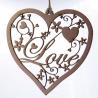 Fancy Love Heart Hanging Decoration