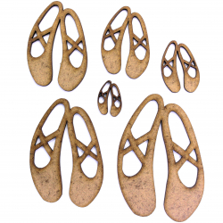 Ballet Shoes Craft Shape