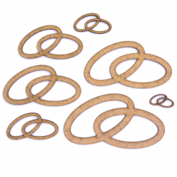 Wedding Ring Craft Shape
