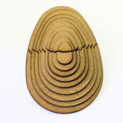 Easter Egg Halves Craft Shapes