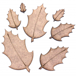 Holly Leaf Craft Shape