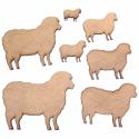 Sheep Craft Shape