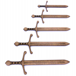 Medieval Sword Craft Shape