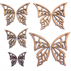 Fairy Wings (Pair) Craft Shape