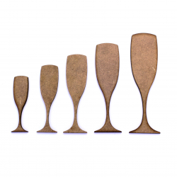 Champagne Flute Craft Shape