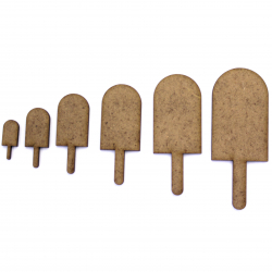 Ice Lolly Craft Shape