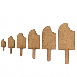 Ice Lolly with Bite Craft Shape