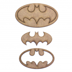 Batman Oval Craft Shape