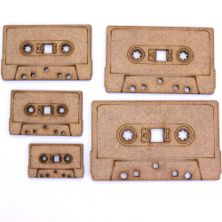 Cassette Tape Craft Shape