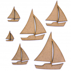 Sailboat Craft Shape