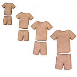 Football Kit Craft Shape