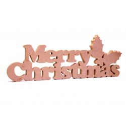 Merry Christmas Free Standing MDF Decoration