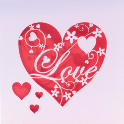 Elegant Love Heart Card