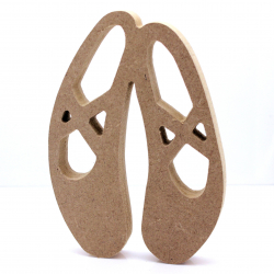Free Standing Ballet Shoes Shape