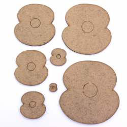 Poppy (2 Petal) Craft Shape