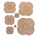 Poppy (4 Petal) Craft Shape