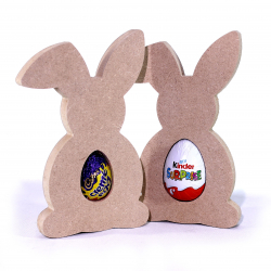 Free Standing Bunny Egg Holder Bent Ear