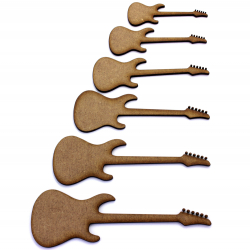 Electric Guitar Craft Shape