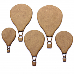 MDF Air Balloon Craft Shape