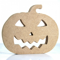 Free Standing Pumpkin with Face Shape
