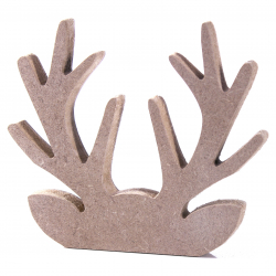 Free Standing Reindeer Head and Antlers Shape