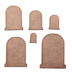 Gravestone Craft Shape