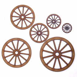 Carriage Wheel Craft Shape