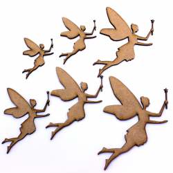Fairy with Wand Craft Shape