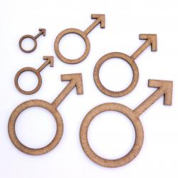 Male Gender Symbol Craft Shape