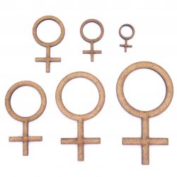 Female Gender Symbol Craft Shape