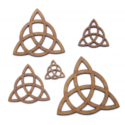 Triquetra Wicca Symbol Craft Shape