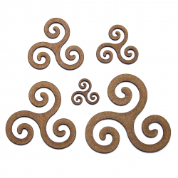 Triskelion Wicca Symbol Craft Shape