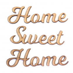 Home Sweet Home Words Craft Shape