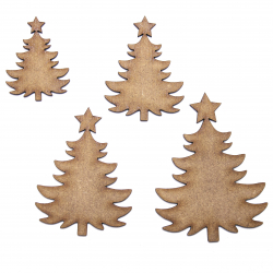 Bushy Christmas Tree Craft Shape