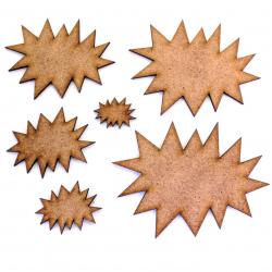 Explosion Burst Craft Shape