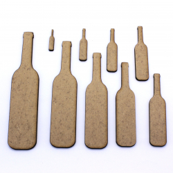Wine Bottle Craft Shape