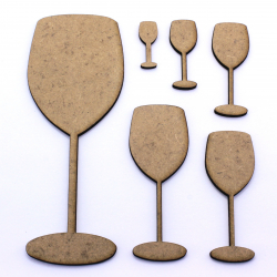 Wine Glass Craft Shape