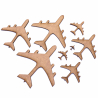 Aeroplane Plane MDF Craft Shape