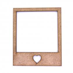 Vintage Photo Frame Polaroid With Heart