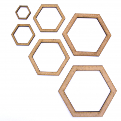 Hollow Hexagon Craft Shape