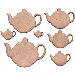 Teapot Circle Craft Shape