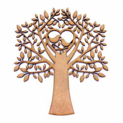 MDF Birds In Tree Shape