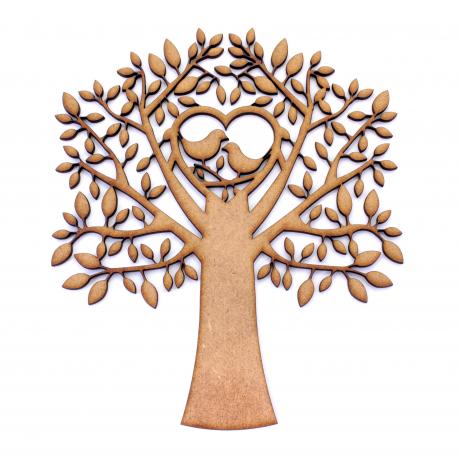 MDF Birds In Tree Shape