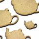 Teapot Circle Craft Shape