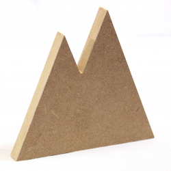 Free Standing Double Mountain Shape