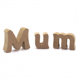Free Standing 'Mum' Letters Shapes