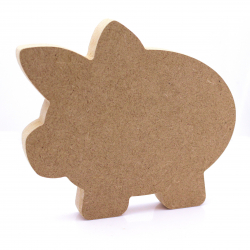 Free Standing Piggy Bank Shape